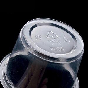 Image 3 - 50 مجموعة كوب حلوى البودنغ أكواب بلاستيكية للاستخدام لمرة واحدة غطاء حاويات بلاستيكية صغيرة صندوق الحلوى حفل زفاف عيد ميلاد 1/2/3/4/5/6/8/10oz