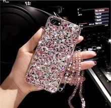 Per HuaweiP9 P10 P20 P30 P40 PIÙ Lite Mate10 20 30 Lite di Lusso Sveglio del diamante di Scintillio di Strass caso di Cristallo della copertura tracolla a catena