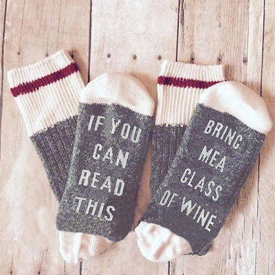CEO US STOCK Custom wine socks If You can read this Bring Me a Glass of Wine gray