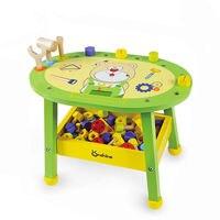 [Lustige] Kinder simulation holz wartung werkzeug tisch Multi funktionale bildung schreibtisch DIY montage Mutter blöcke spielzeug kinder geschenk-in Werkzeug-Spielzeug aus Spielzeug und Hobbys bei