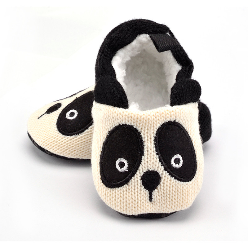 254b64c6361eb6 New  Adorable Infant Slippers Toddler Baby Boy Girl Knit Crib Shoes Cute  Cartoon Anti slip Prewalker Baby Slippers-in First Walkers from Mother    Kids