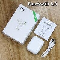 I11 tws беспроводные наушники 5,0 Bluetooth наушники мини-наушники air ear стерео гарнитуры с микрофоном для мобильного телефона Pods