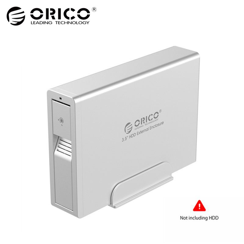 ORICO Aluminum USB 3.0 to SATA 3.0 3.5 inch HDD External Enclosure Super Speed Sata HDD Docking Station for Laptop PC -Silver корпус для hdd oem hdd 3 5 sata cd rom hdd d3334a eshow orico 1106ss