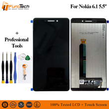 For Nokia 6 2018 LCD TA-1045 6.1 Display Touch Screen Digitizer Assembly TA-1050 Replacement