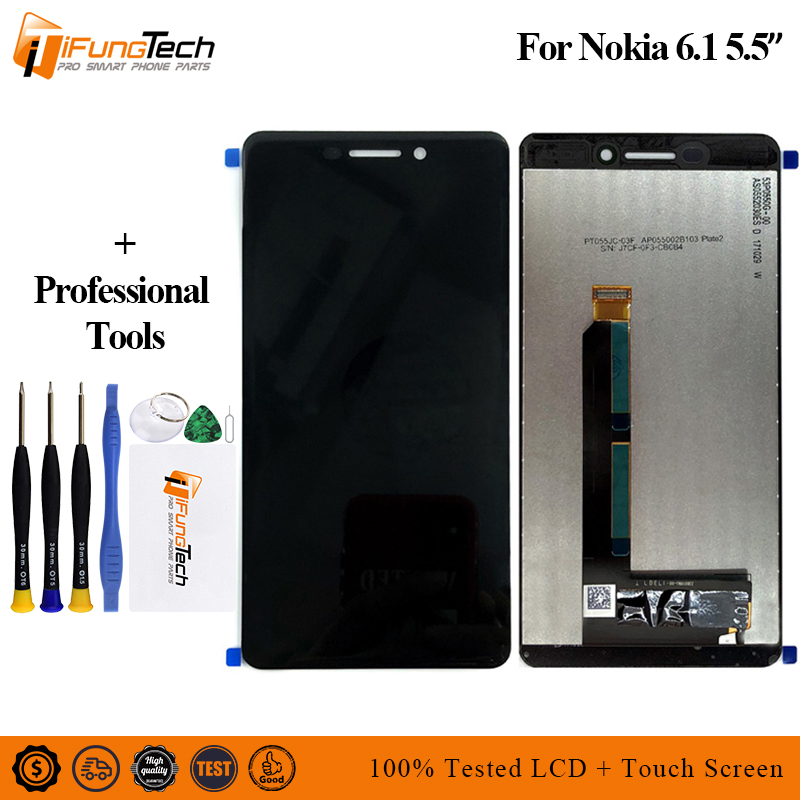For <font><b>Nokia</b></font> 6 2018 LCD TA-1045 <font><b>Nokia</b></font> <font><b>6.1</b></font> Display <font><b>Touch</b></font> <font><b>Screen</b></font> Digitizer Assembly For <font><b>Nokia</b></font> <font><b>6.1</b></font> 2018 LCD TA-1050 <font><b>Screen</b></font> Replacement image