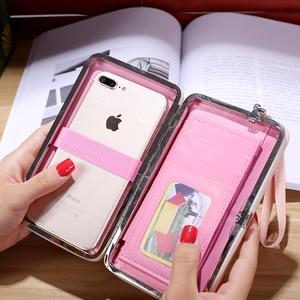 Image 3 - Women Clutch Wallet Leather Case for Xiaomi Mi 9 9T Pro 8 SE Redmi K20 Pro Note 7 CC9 CC9e Case Universal Cover Handbag Purse