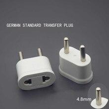 Adaptador de corriente EU para viaje, adaptador de corriente de CA, portátil, duradero, ligero, de alta calidad