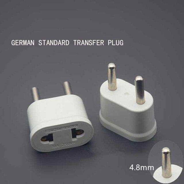 Power Adapter EU Stecker Adapter AC Power Adapter Reise Strom Buchse Konverter Wand Tragbare Durable Leichte High Qualität