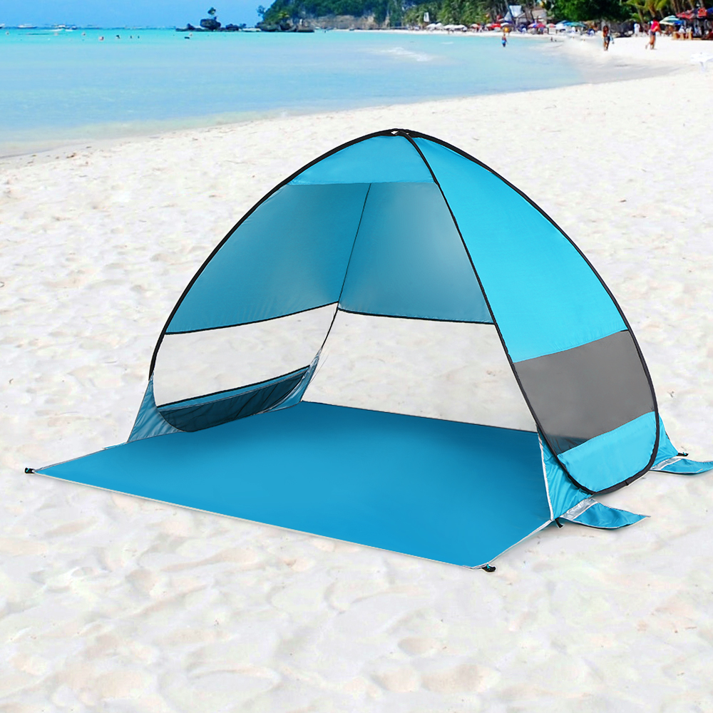 Image 5 - Automatic Pop Up Beach Tent Cabana Portable UPF 50+ Sun Shelter Camping Fishing Hiking Canopy Tents Outdoor Camping-in Tents from Sports & Entertainment