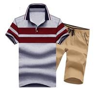 New Design Asian Size M 3XL Men Set Summer Cotton Short Sleeve 2 Pcs L984