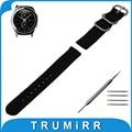 20mm nylon reloj banda para samsung gear s2 classic r732/r735 zulu tejido correa de pulsera pulsera de la correa negro marrón verde orange