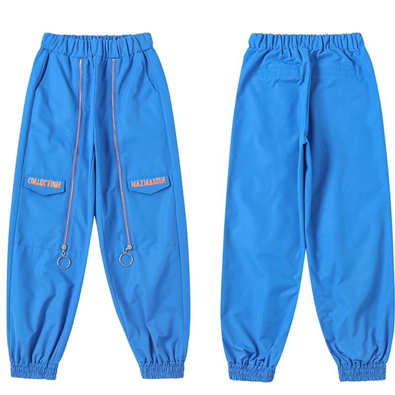 De Pullable Deportes Blue Azul Primavera Pantalon Mono Slim Nueva Mujer Hop Hip Moda Cremallera Pantalones Ss016 Haz dwwHpz