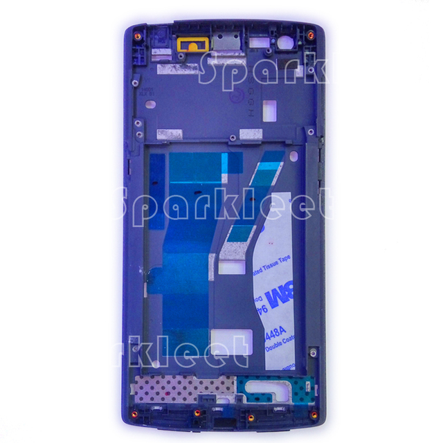Front Housing For Oneplus one 1+1 Front Bezel Frame Faceplate Housing Case For Oneplus Cell Phone Parts Free Shipping