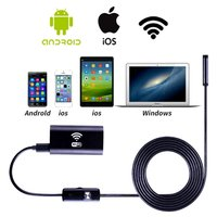 8mm Lens Wifi Android Endoscope Camera 1M 2M 3 5M 5M Waterproof Snake Tube Pipe Borescope
