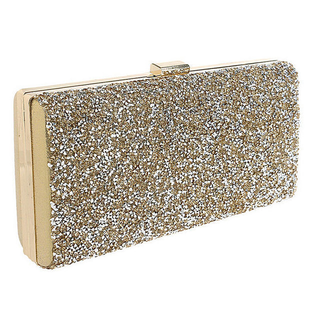 e8ccdb3f784d7 Gold Clutch Women Evening bags Diamond Rhinestone Clutches Crystal Wallet Wedding  Purse Party Chian Shoulder Bags