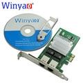 WYI350T Winyao PCI-E X1 RJ45 Сервер Двухпортовый Gigabit Ethernet Lan 10/100/1000 Мбит/С Сетевая Карта для intel i350-T2 NIC