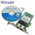 Wyi350t winyao pci-e x1 servidor dual port gigabit ethernet rj45 lan 10/100/1000 mbps cartão de interface de rede para intel i350-t2 nic