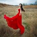 2017 Высокое Качество V Шеи Высокая Сплит Воротник туризма Dress Shirt Black Red Отдыха Темперамент изящные Длинные Платья для Женщин