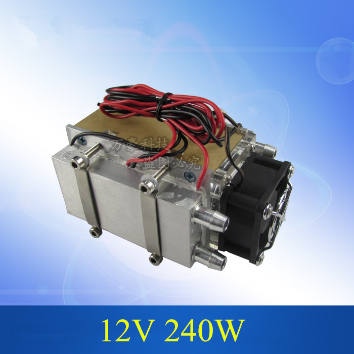 DC12V 240W Peltier semiconductor Pet water Cooling air condition refrigerator movement computer cooled radiator refrigeration ks214 12v 240w semiconductor electronic peltier chip water cooling refrigeration small pet air conditioner aluminum radiator