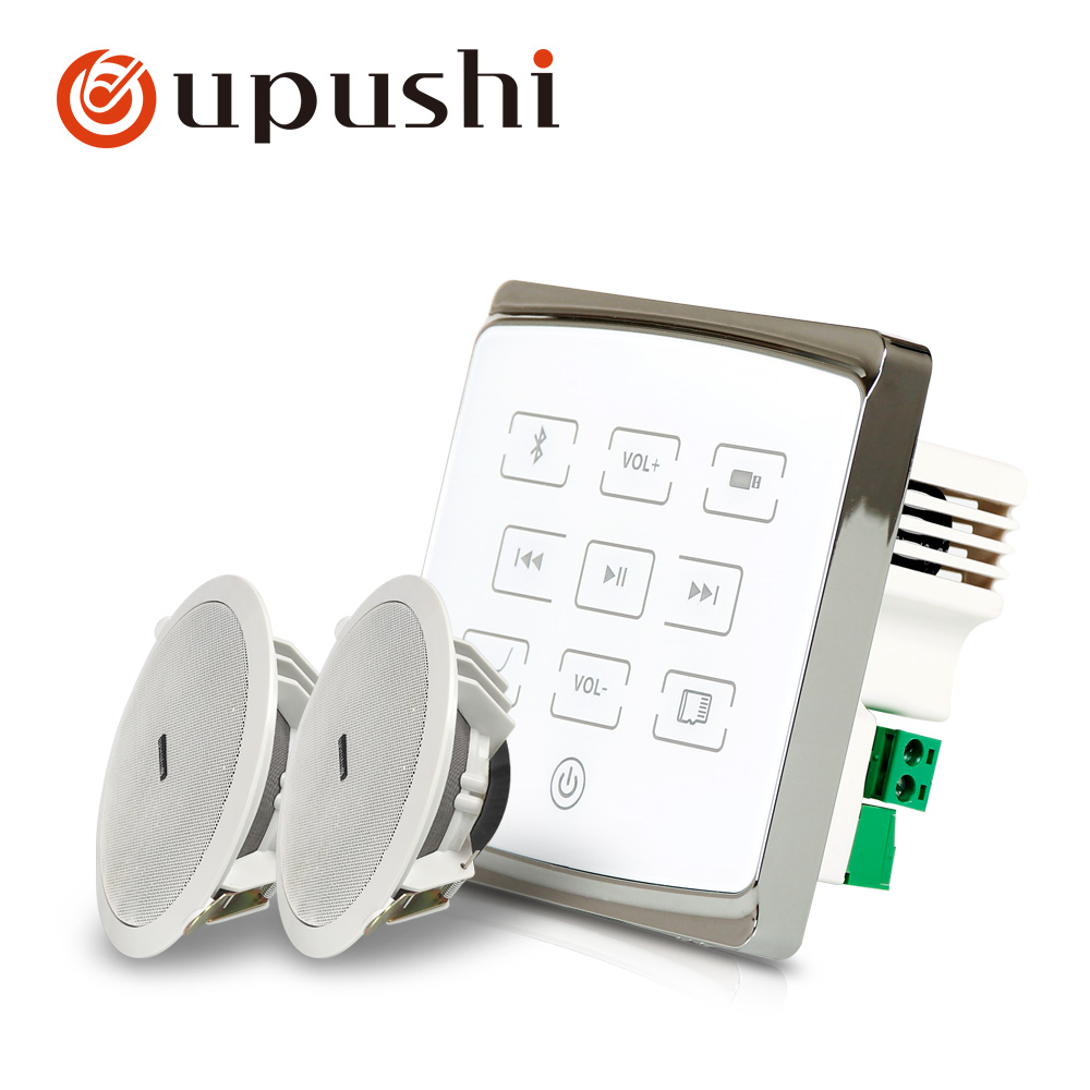 Oupushi Best Seller A1+CE502 Wall Amplifier With Ceiling Speaker Package For Background Music Sound System image