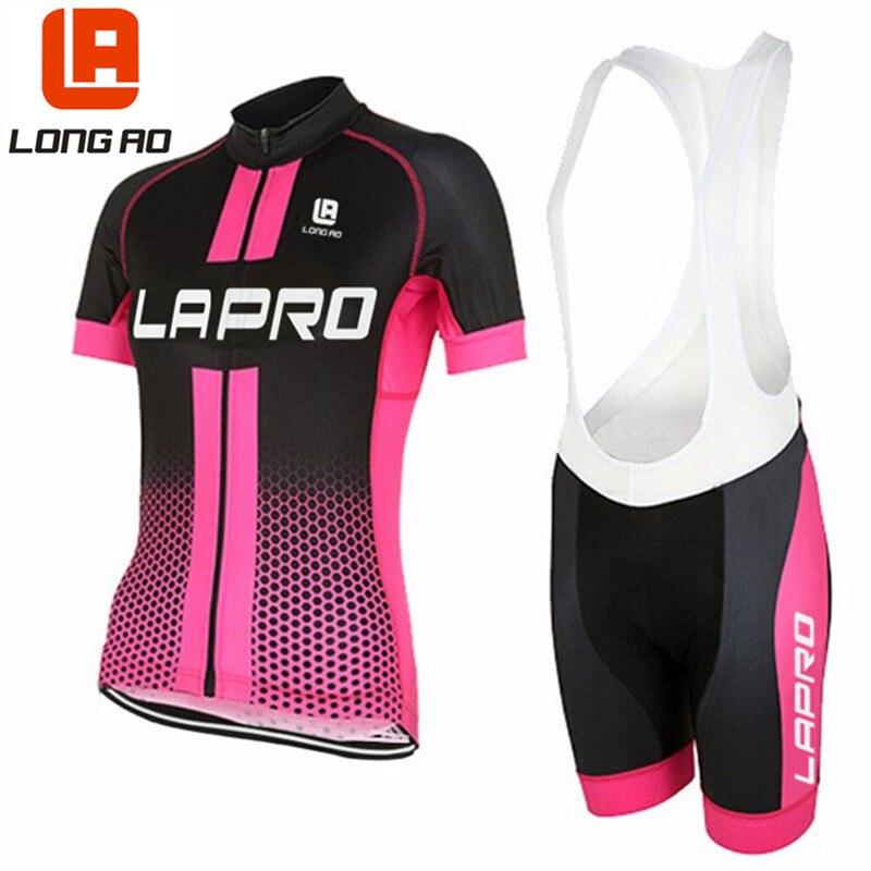 LONGA AO 2 cor de alta qualidade mulheres Verão de Manga Curta roupas de Ciclismo/Bicicleta Roupas Esportivas de Bicicleta Roupa Ropa ciclismo