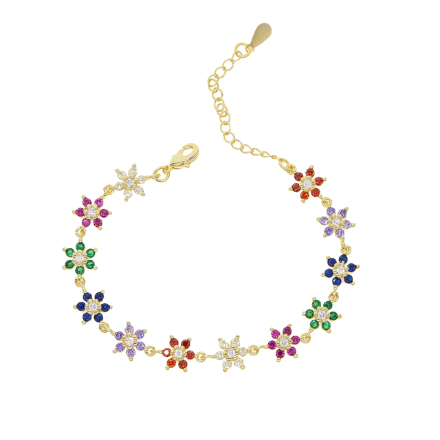 Summer Rainbow Cz Flower...
