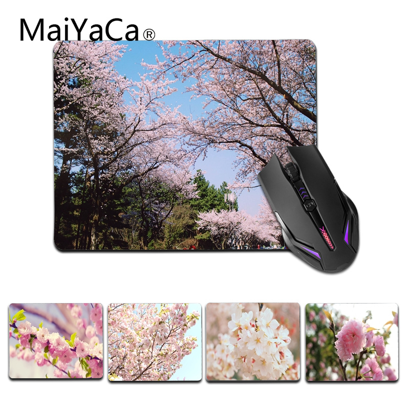 MaiYaCa Non Slip PC Beauty Cherry blossoms Computer Gaming Mouse mats Size for 18x22cm 25x29cm Gaming Mousepad