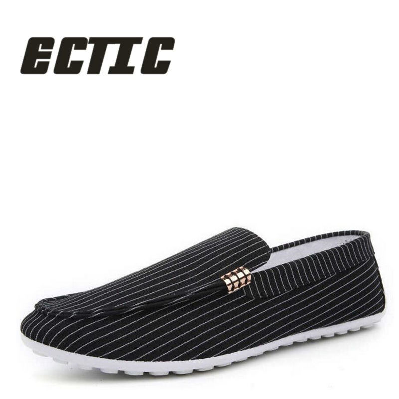 ECTIC Fashion Spring Summer Men Canvas Shoes Breathable Casual Shoes - Men's Shoes