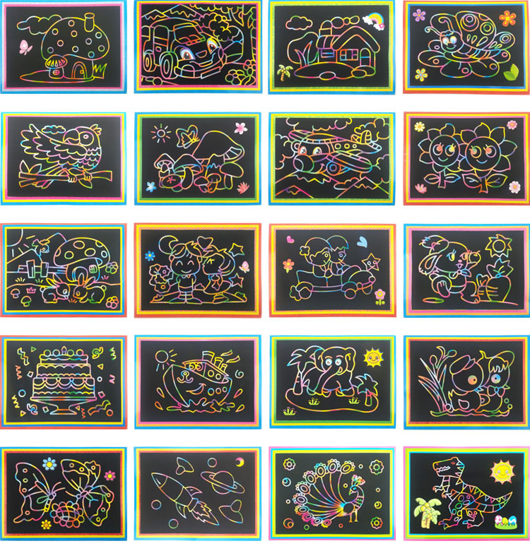 Happyxuan-10pcslot-125175cm-Magic-Scraping-Drawing-Paper-Toys-Two-in-One-Coloring-Pictures-for-Kindergarten-Child-Painting-4