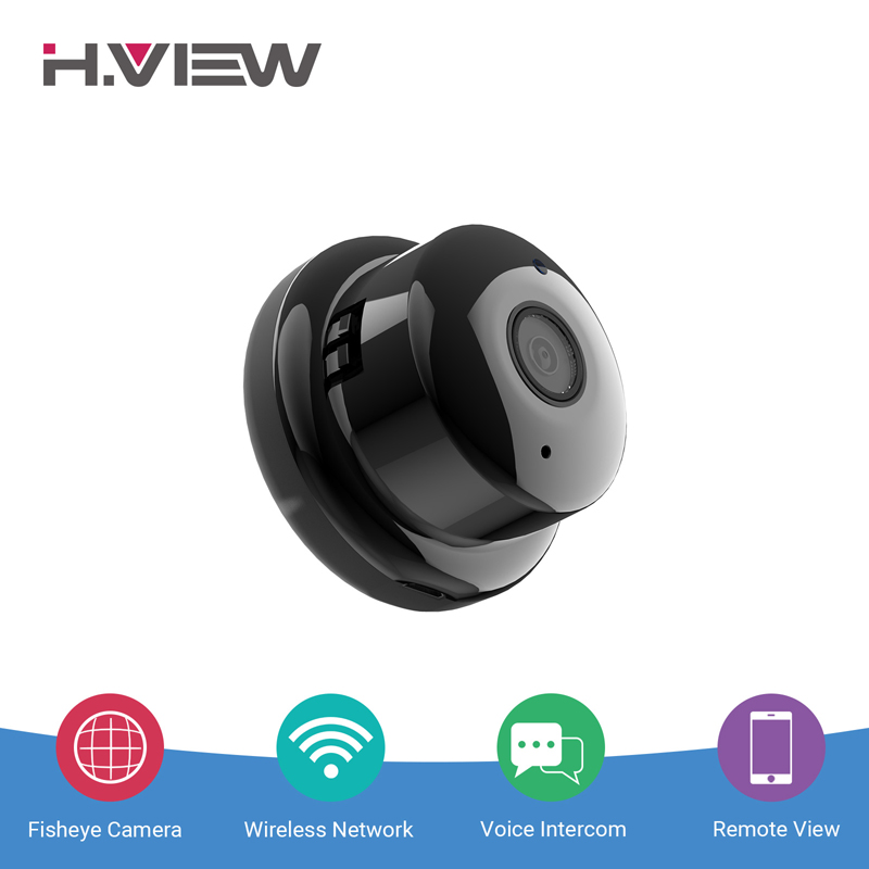 H.VIEW 960P Panoramic Camera 180 CCTV Camera 720P IP Camera Wifi Camara IP Fisheye Mini Video Surveillance Cameras