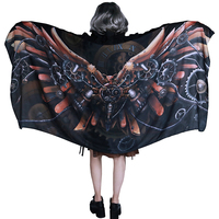 Steampunk Darkness Women's Scarf Retro Gears Machine Unique Scarf Best Gift for Friend Cosplay Costume Party Scarves