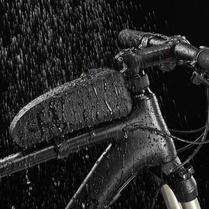 Image 5 - ROCKBROS Bicycle Bag Waterproof Cycling Top Front Tube Frame Bag Large Capacity MTB Road Bicycle Pannier Black Bike Accessories