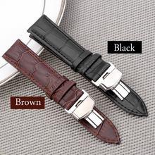 Черный коричневый деловой Повседневный Кожаный ремешок для часов