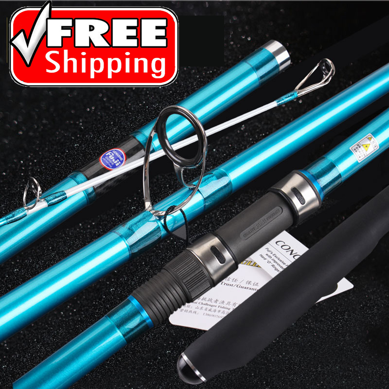 Lurekiller fishing rod New surf Japanese Quality Full Fuji Surf Rod 4.05M carbon 3 Sections 100-250G cast rods madeLurekiller fishing rod New surf Japanese Quality Full Fuji Surf Rod 4.05M carbon 3 Sections 100-250G cast rods made