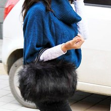 Faux Rabbit Fur Designer Small Messenger Bag