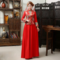 Chinese Traditional Dress Sale Qipao 2016 New Cheongsam Wedding Bride Embroidered Retro Long Sleeved Clothes And Improved Back