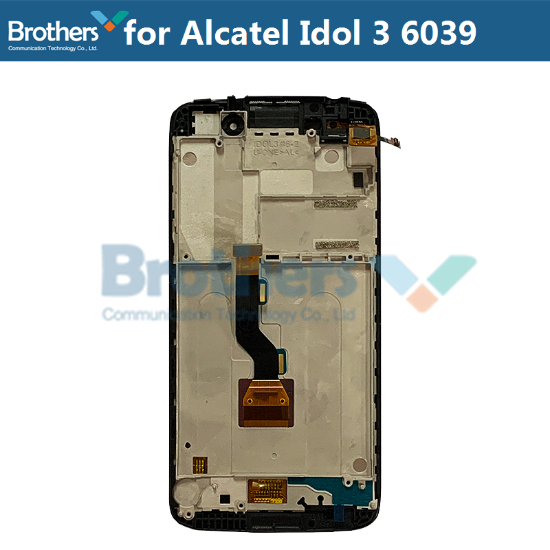 LCD Screen For Alcatel Idol 3 6039 6039A 6039K 6039Y LCD Display With Touch Screen Digitizer Assembly With Frame Replacement Top (2)