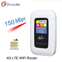 4G LTE Wifi Router 150Mbps Mini Mobile Hotspot Portable Car Mifi Modem Ulocked Wireless Dongle 3G 4G Wi-Fi Router