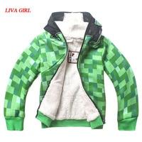 Kids Boys Halloween Minecraft Costume Green Sweatshirt Clothes Winter Hoodie Coat For Children 4 12 Years