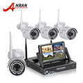 Anran plug and play wireless cctv sistema nvr kit 7 pulgadas lcd pantalla P2P 720 P HD 36 IR Cámara IP WIFI Al Aire Libre Cámara de Seguridad