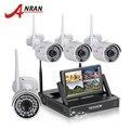 Plug and play sem fio anran cctv kit nvr sistema de 7 polegada lcd tela P2P 720 P HD 36 IR Câmera IP WI-FI Câmera de Segurança Ao Ar Livre
