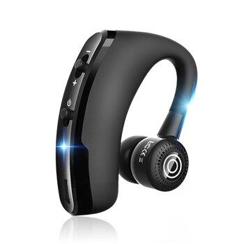 Nuevo V9 manos libres inalámbrico Bluetooth auriculares de Control de ruido de negocios auriculares inalámbricos Bluetooth con micrófono para Driver Sport