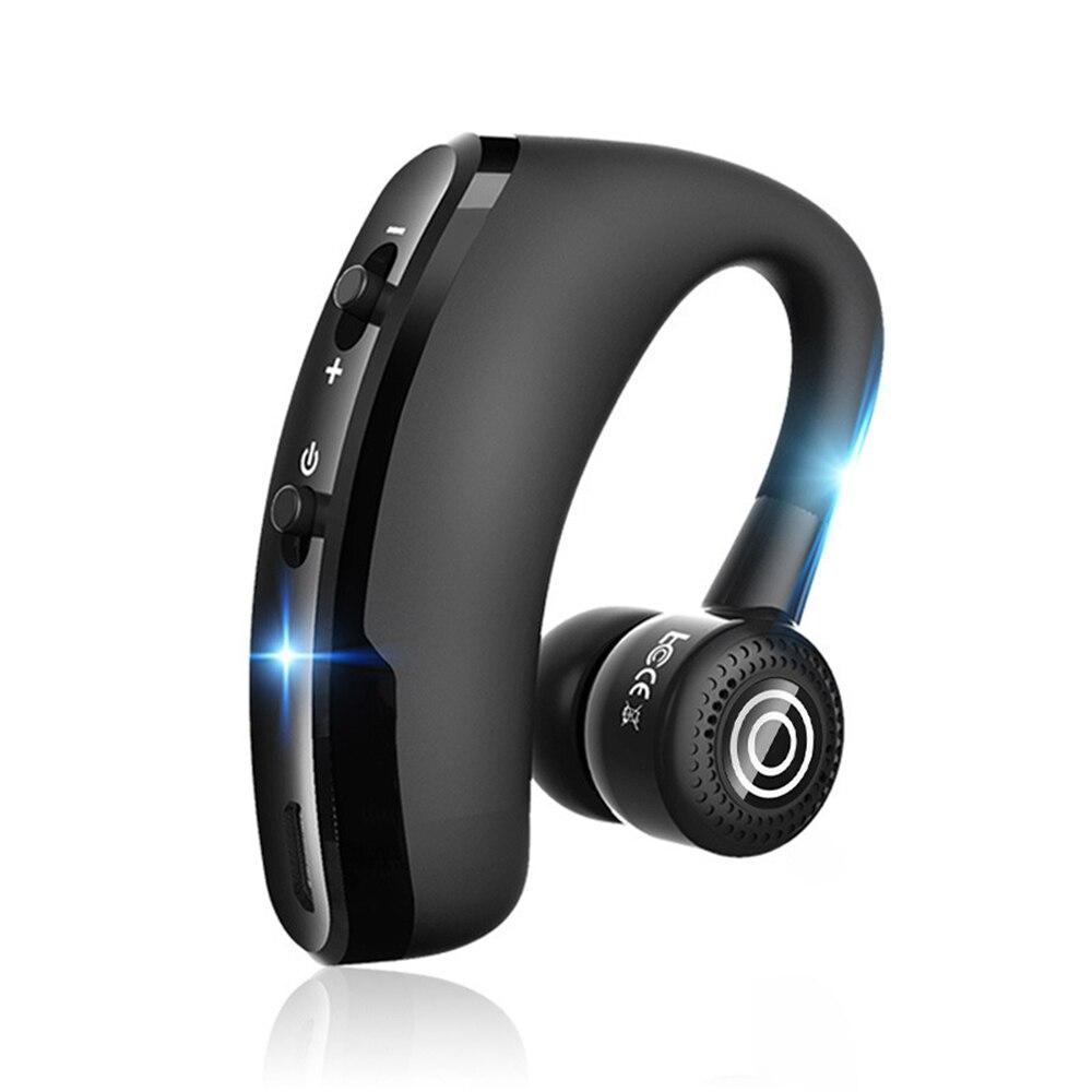 Nuevo V9 manos libres inalámbrico Bluetooth auriculares Control de ruido negocios inalámbricos Bluetooth auriculares con micrófono para el conductor deporte