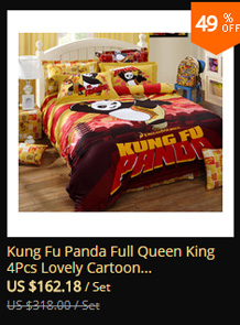 Kung Fu Panda Full Queen King 4pcs Lovely Cartoon Bedding Sets 100 Cotton Sanding Duvet Cover Bed Sheet Set Hello Kitty Tiger In From Home