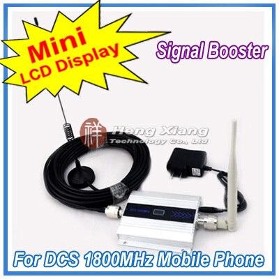 Display LCD!!! Mini DCS 1800 Mhz Mobile Phone Signal Booster, DCS Repetidor de Sinal, Amplificador Telefone celular com Cabo + Antena