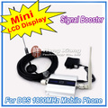 LCD Display !!! Mini DCS 1800Mhz Mobile Phone Signal Booster , DCS Signal Repeater , Cell Phone Amplifier with Cable + Antenna