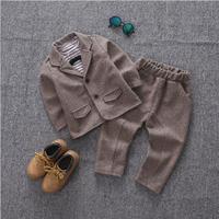Kids Blazer Baby Boys Suit Jackets 2018 Autumn Fall Cotton Coat Pants 3 Piece Boy Suits Formal For Wedding Chlidren Clothing