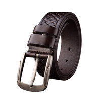 2018 Fashion Men S Vintage Accessories Casual Thin Leisure Leather Belt High Quality Alloy Buckle Men