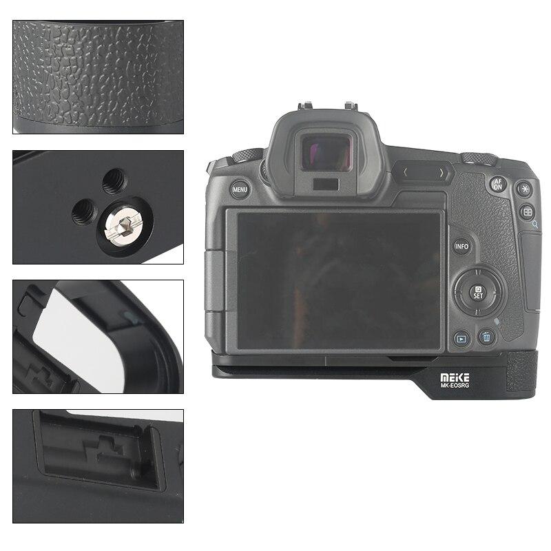 Meike MK-EORG poignée en aluminium poignée plaque de dégagement rapide pour appareil photo Canon EOS R - 5