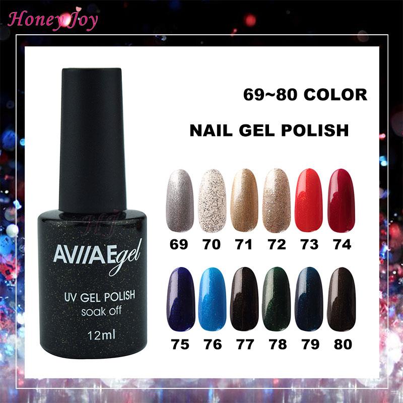 Painstaking Aviiae Glossy Gel Nail Polish Long-lasting Soak-off Led Uv Lamp Cure Cosmetic Make Up Gel Polish 12ml Nail Gel